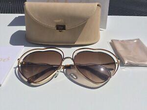 Chloe Poppy Love Heart Gold - Brown Gradient Lens Sunglasses CE131S 213 RRP£270