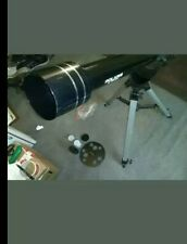 Meade Polaris Refractor Telescope With Tripod & accessories Black Grey