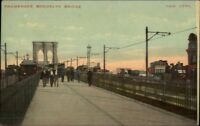 Brooklyn New York City Bridge Promenade c1910 Postcard