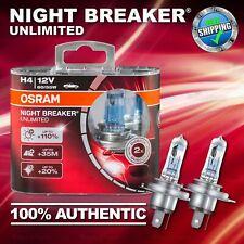 2x H4 472 +110% more Light OSRAM Night Breaker UNLIMITED Headlight Bulb 64193NBU