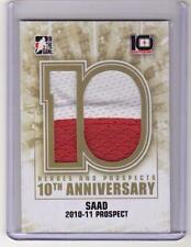 BRANDON SAAD 13/14 ITG H&P 10th Anniversary Tribute Game-Used Jumbo Jersey AP-87
