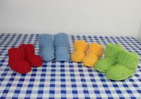 KNITTING INSTRUCTIONS- BABY MOSS STITCH BOOTIES  SHOES BOOTS KNITTING PATTERN
