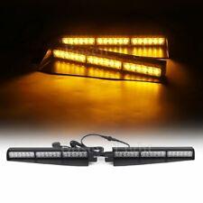 """29"""" LED Emergency Warning Patrol Vehicle Truck Visor Split Amber Strobe Lightbar"""