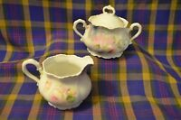 "Vintage Beautiful LEUCHTENBURG ""Roses"" China Creamer & Sugar-Germany"