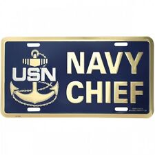 usn navy chief military anchor logo license plate made in usa