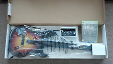 NEW Xbox 360 Guitar Hero World Tour Wired Guitar & Beatles Rock Band Bundle RARE