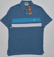 Men's PENGUIN Blue White Polo Shirt Small S NWT NEW Beautiful!