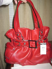 NWT $120 Wilson Leather red hobo bag Ellie VI