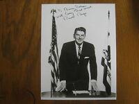 RONALD  REAGAN (D. 2004) California Governor  Signed  8 x 10  B & W Glossy Photo