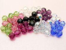 10 x Genuine SWAROVSKI Crystal 5000 ROUND Facet BEADS ~ 4MM / 5MM / 6MM ~
