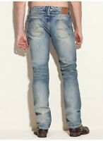 Guess Lincoln Slim Straight Jeans In Rank Wash Light Blue Denim Size 32X32