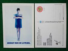 Pubblicità Advertising Cartolina vodka (Italy) ABSOLUT RUIZ DE LA PRADA 173/2904