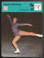 JANET LYNN USA Figure Skating Olympics Photo 1977 SPORTSCASTER CARD 02-14
