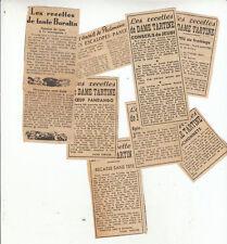 Document  vieux papiers articles de journeaux recettes de dame tartine