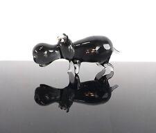 Regalo di compleanno Large Grigio Crystal Glass Hippo Carino Display Scaffale Armadio Decor