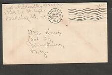WWII cover Captain Wesley R Brendler Eye St Bakersfield CA to NY