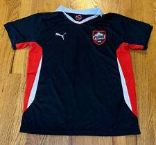 Puma Boys L Soccer Jersey Black And Red Collared Shirt