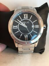 Relic by Fossil Payton Stainless Steel Black Dial Quartz Men's Watch ZR11999-H66