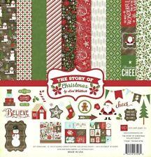 Christmas Santa Snowman Believe Peace Joy Echo Park Scrapbook Page Kit 12 x 12