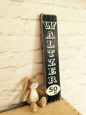 Waltzer Sign Old Vintage Look Sign Plaque Fairground Fun Fair Circus 70s Funfair