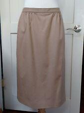 VTG Virgin Wool Long Skirt camel brown tan midi long skirt pencil skirt Sz 8