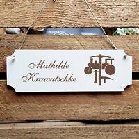 Personalisiertes Schild « Straßenbau » Türschild Name Straßenbauer Bauarbeiter