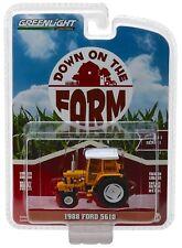 1:64 GreenLight *DOWN ON THE FARM* 1988 FORD 5610 Industrial Tractor w/CAB NIP!