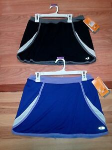 CHAMPION ADVANCE PERFORMANCE TENNIS/ WORKOUT GIRLS SKIRTS WITH UNDER PANTS L &XL