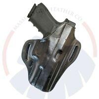 Fits GLOCK 17,19,20,21,22,23,30,32,36,37,38 Pancake Leather OWB Gun Belt Holster