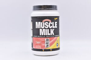 Muscle Milk Lean Muscle Protein Powder, Strawberry Banana, 2.47lb, EXP: 10/22
