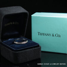 TIFFANY & CO PLATINUM DIAMOND ETERNITY BAND RING WITH ORIGINAL BOX (SZ 5.5)