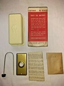 NOS Vintage AuthOtone Door Chime No.850 National Model With Instructions And Box