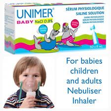 Sterile Saline Solution NaCl 0,9% Nebulizer Nose Ear Eye Lens Wash 50 x 5ml