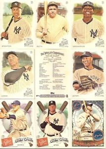 NEW YORK YANKEES Team Set 2015 Topps Museum Collection