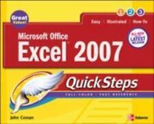 Microsoft Office Excel® 2007 by John Cronan (2007, Paperback)