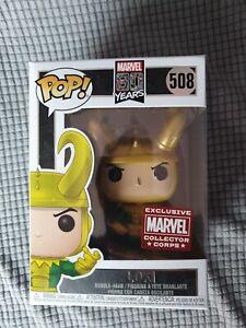 Funko Pop Marvel 508 Marvel 80 Years Loki Marvel Collector Corps Exclusive