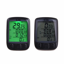 LED BACKLIGHT DIGITAL WIRELESS BIKE BICYCLE SPEEDOMETER CYCLE SPEEDO ODOMETER 5