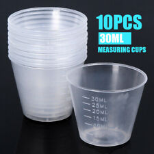 10 pcs 30ml Plastic Clear Measuring Cups Disposable Liquid Container New