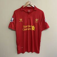 Liverpool Warrior #8 Gerrard 2012/2013 Soccer Football Jersey Shirt Mens Medium