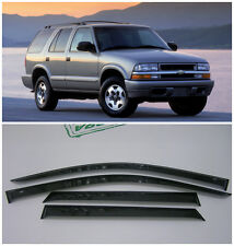 For Chevrolet Blazer 1995-2005 Window Visors Side Sun Rain Guard Vent Deflectors