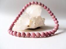 Bracelet élastique en rhodonite rose (perles 4 mm) - pierre fine gemme véritable