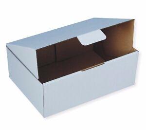 30x Diecut Mailing Box Bx2 310x225x102mm Mailer Boxes WHITE - Postal Boxes