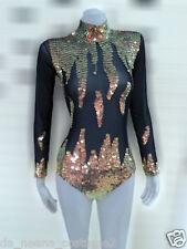 DaNeeNa M575 Fire Cute Cher Vegas Burlesque Bugle Leotard Bodysuit XS-XL