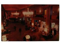 Olympic Hotel Lobby, Seattle, Washington WA Postcard - Golden Lion Restaurant