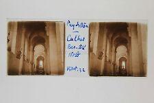 Cunlhat Auvergne église Puy du Dôme Plaque stéréo 1932