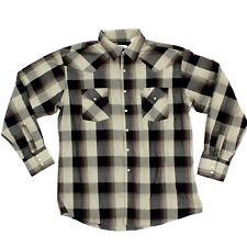 Vintage Ely Cattle Western Snap Button Shirt Plaid Longsleeve Embellished Cowboy
