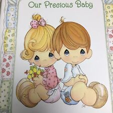New Vintage Precious Moments Keepsake Baby Memory Book First Five Years With Box