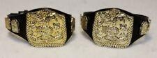 WWE WWF Jakks Pacific 80's 90's Pair of World Tag Team Championship Belt Figure