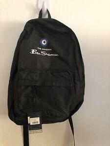 Mens Ben Sherman Black Backpack Bag New