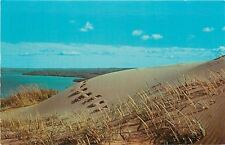 Glen Haven Michigan~Footprints In The Sand~1950s PC At This Point I Carried You